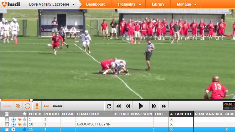 Video of Lacrosse Faceoffs