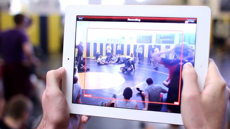 Mobile Video Capture a Wrestling Match
